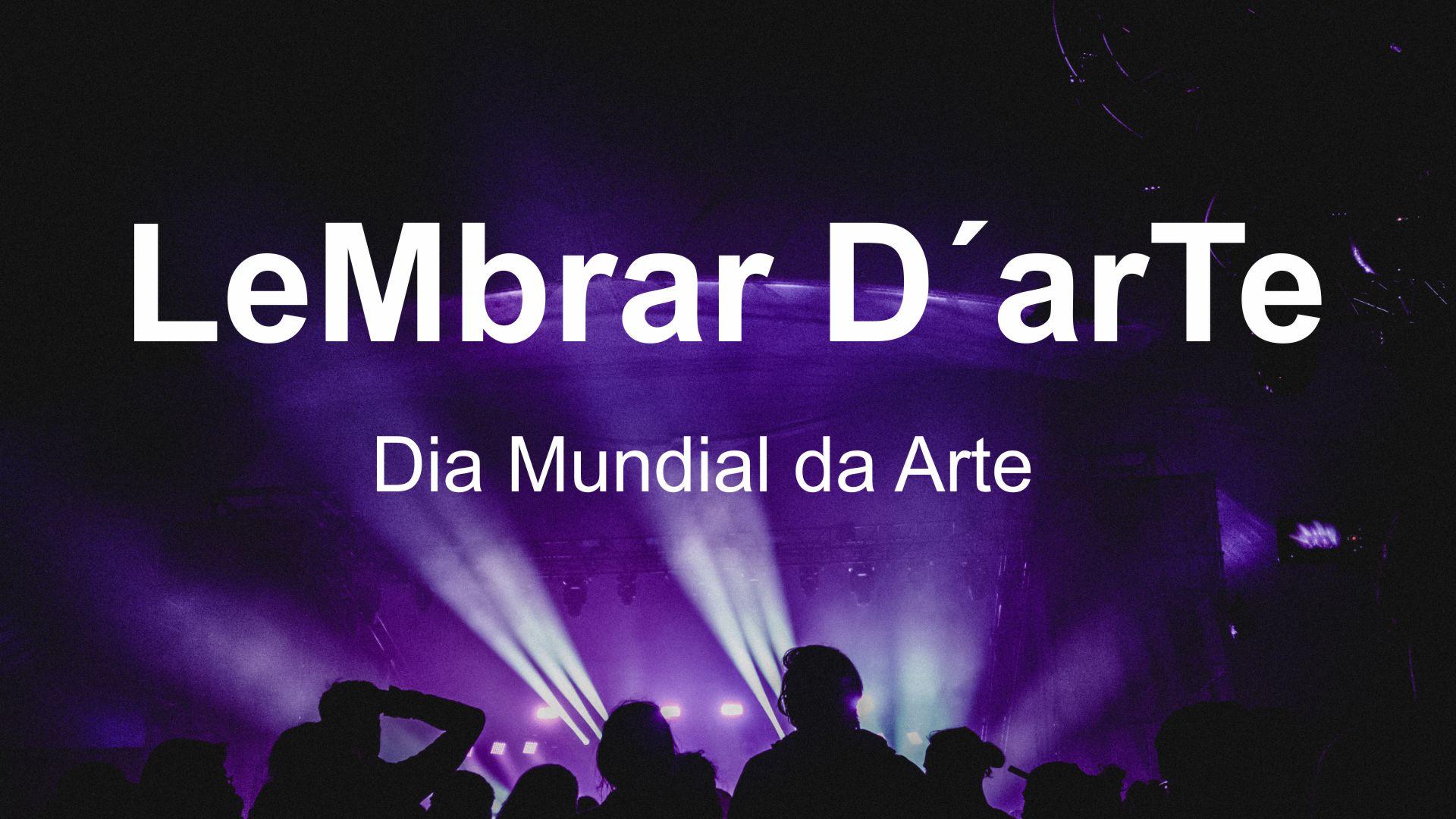 FESTA COM LIVROS 2021 – Dia Mundial da Arte