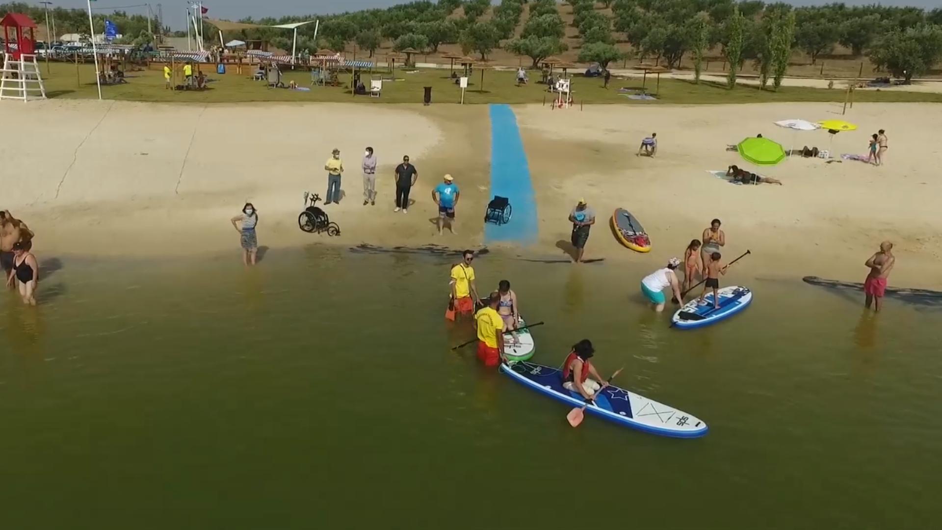 Stand Up Paddle Adaptado – Praia de Alqueva recebeu prova embrionária